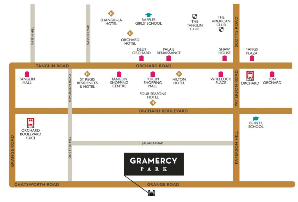 Gramercy Park Location Map